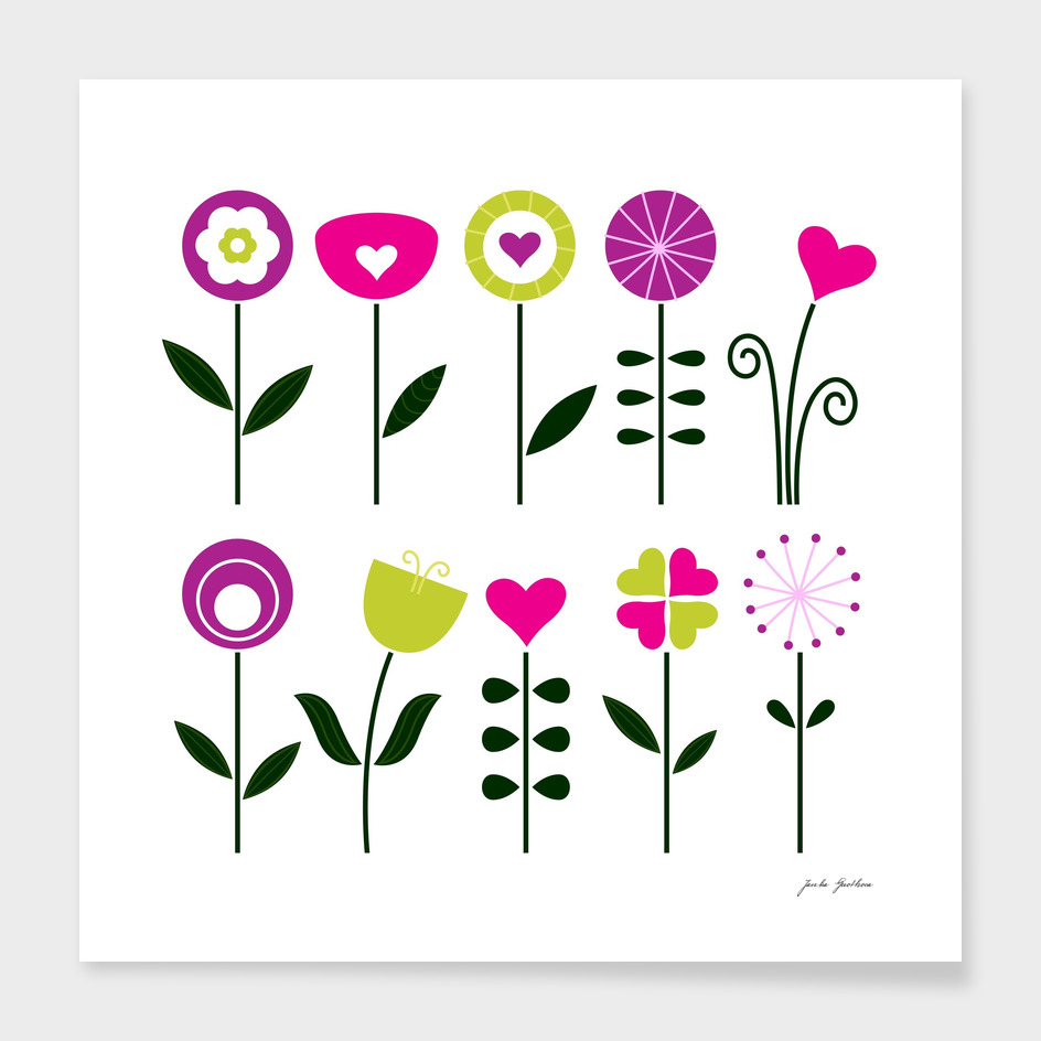 New floral art in Shop