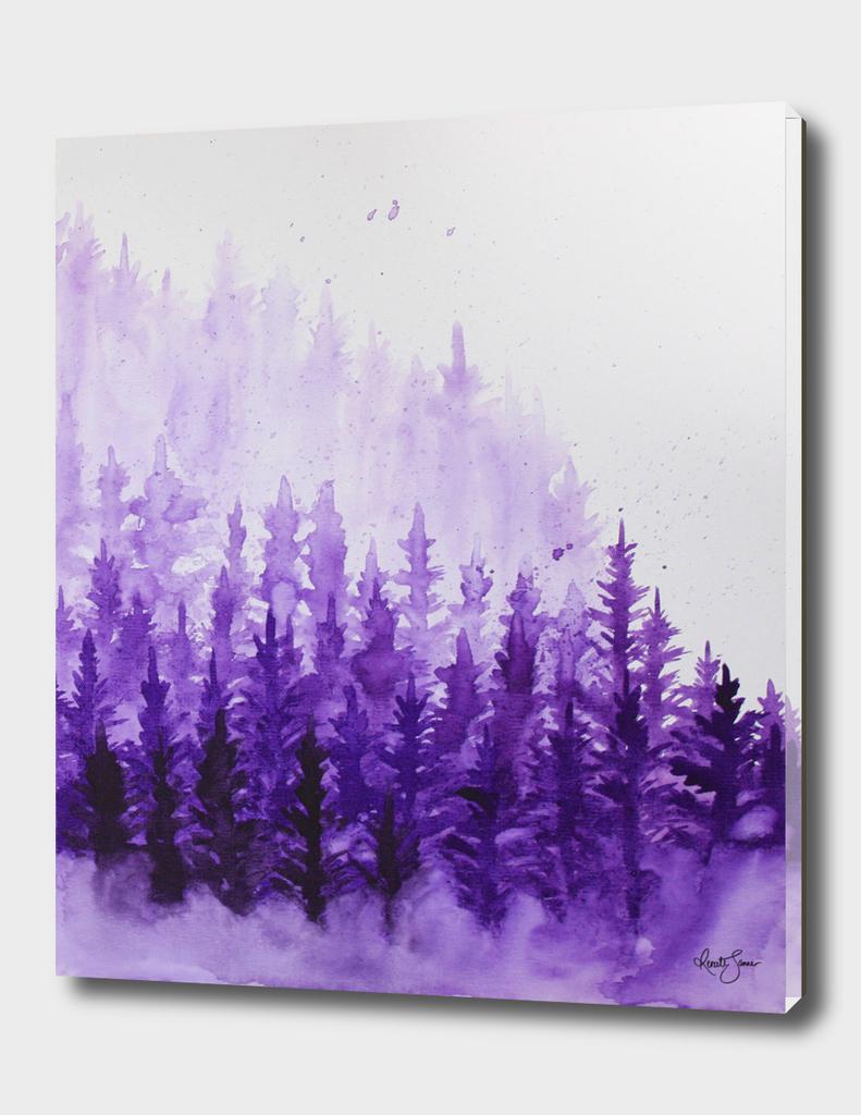Misty forest left