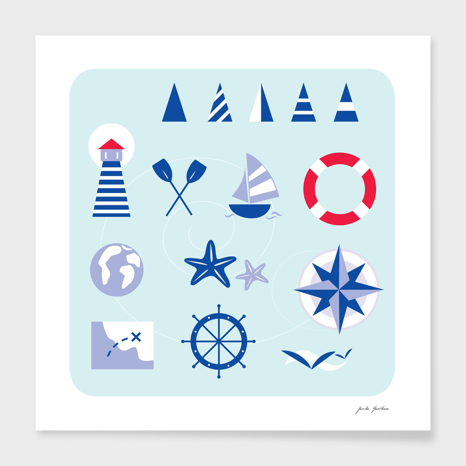 New art in shop : Mare icons blue