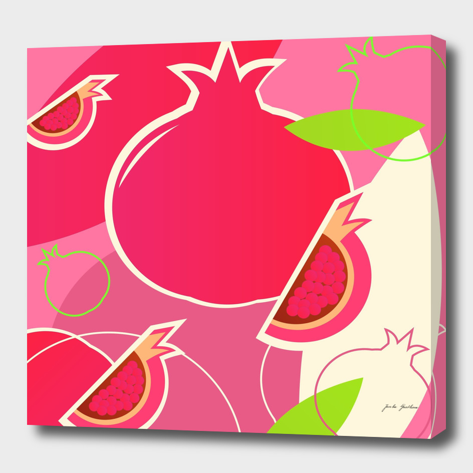 New fresh pomegranate in shop : Pink!