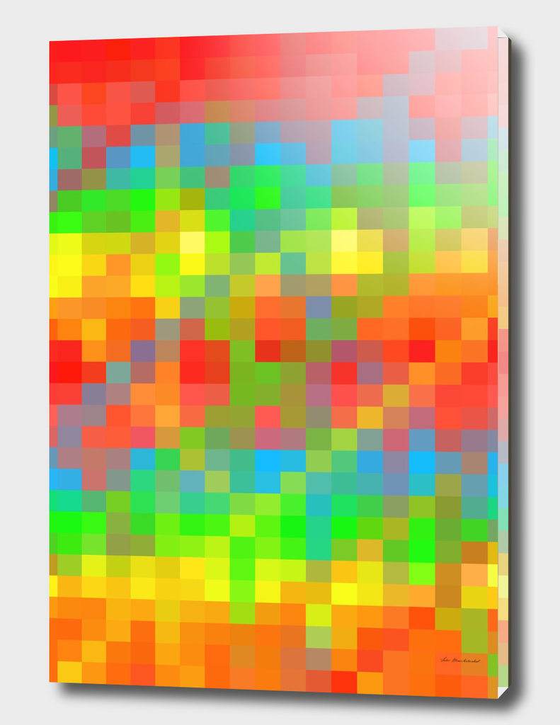 colorful geometric square pixel abstract pattern