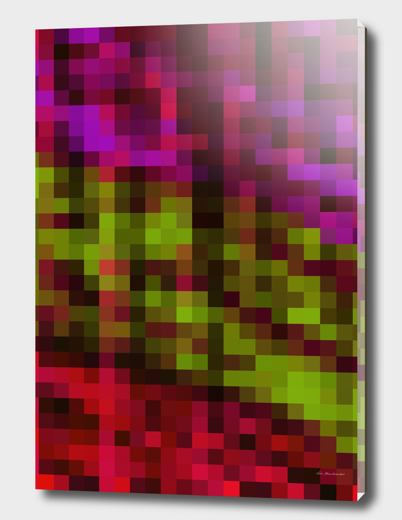 geometric square pattern pixel abstract in purple green red