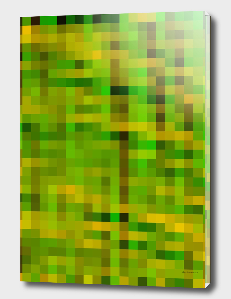 green yellow brown pixel abstract background
