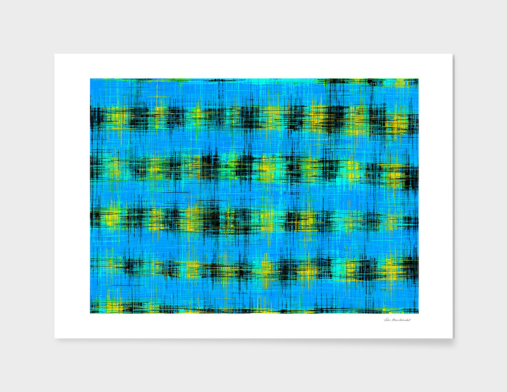 blue black and yellow painting texture abstract background