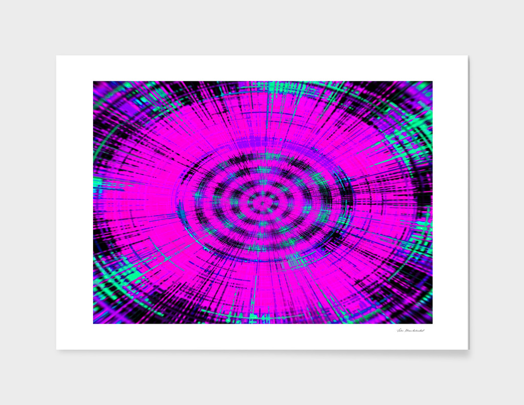 pink black and blue circle pattern abstract background