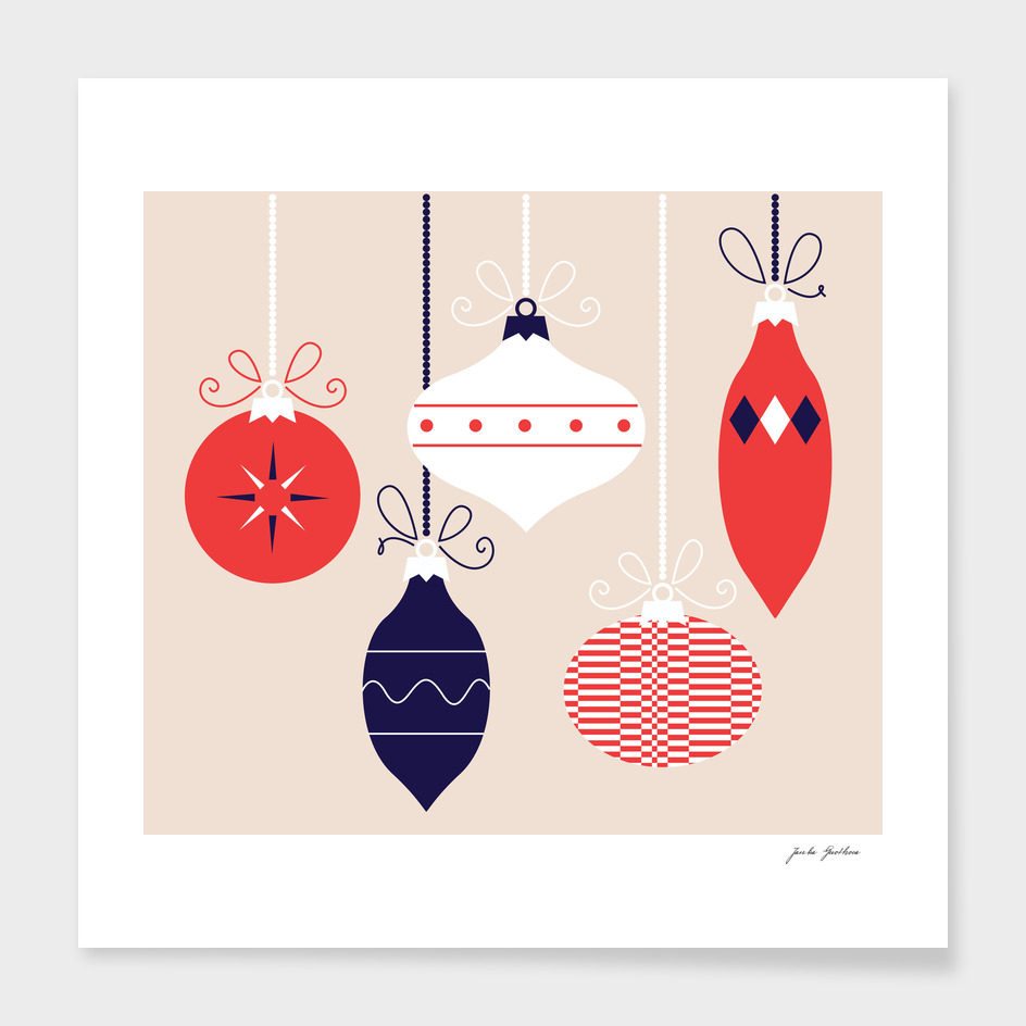 Xmas decoration : red and blue / FOLK