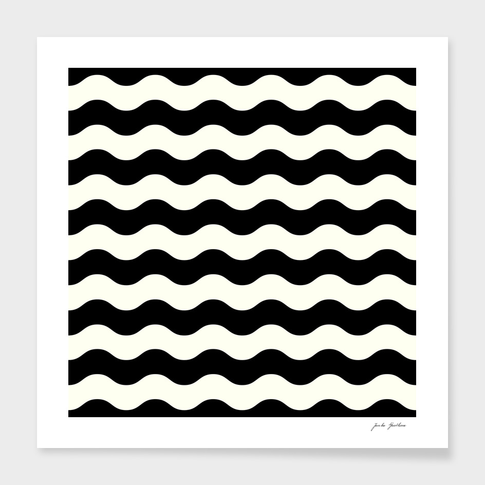 Black and white 60s old waves