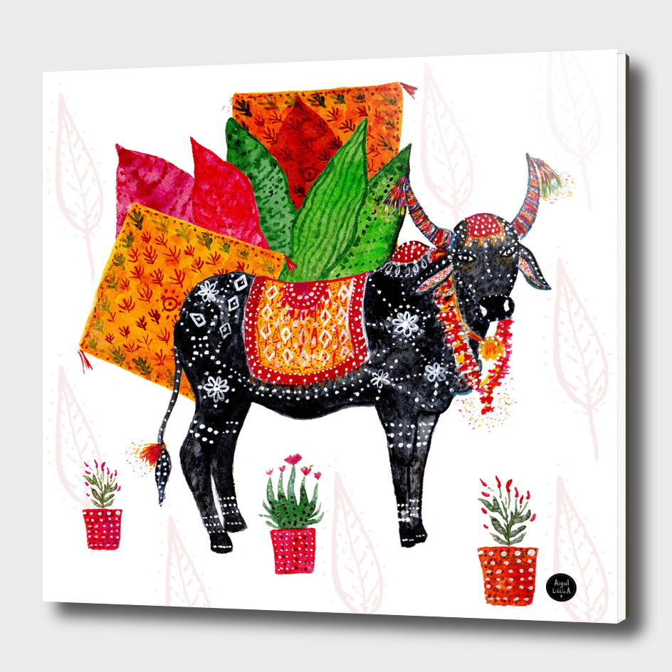 Indian decorated Cow