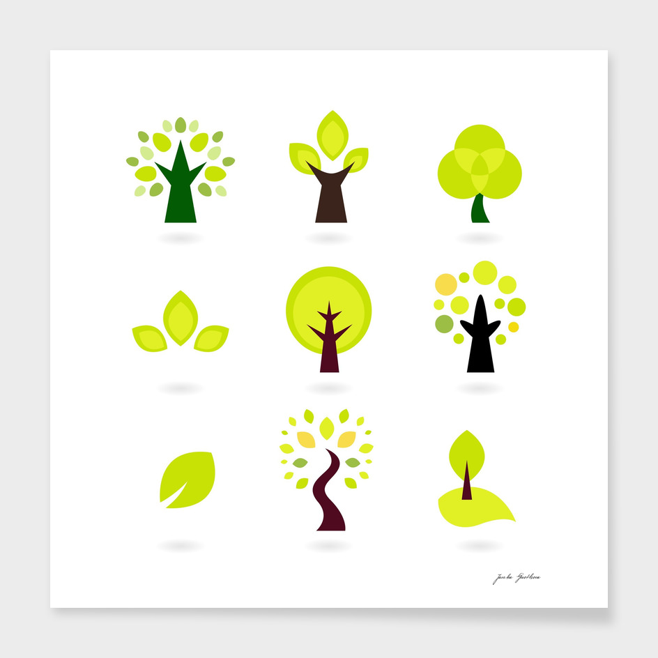 New original design : Hand-drawn trees
