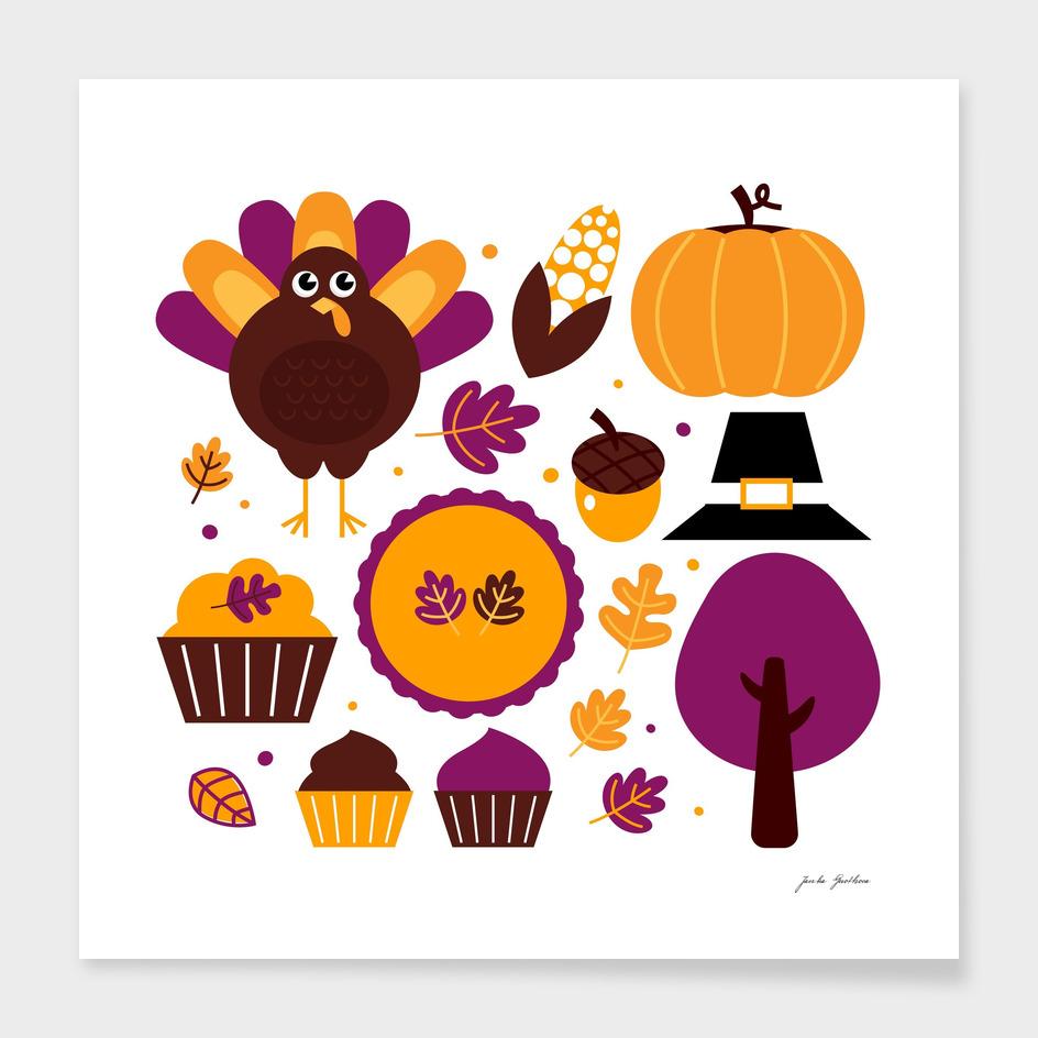 Creative halloween collection : purple brown