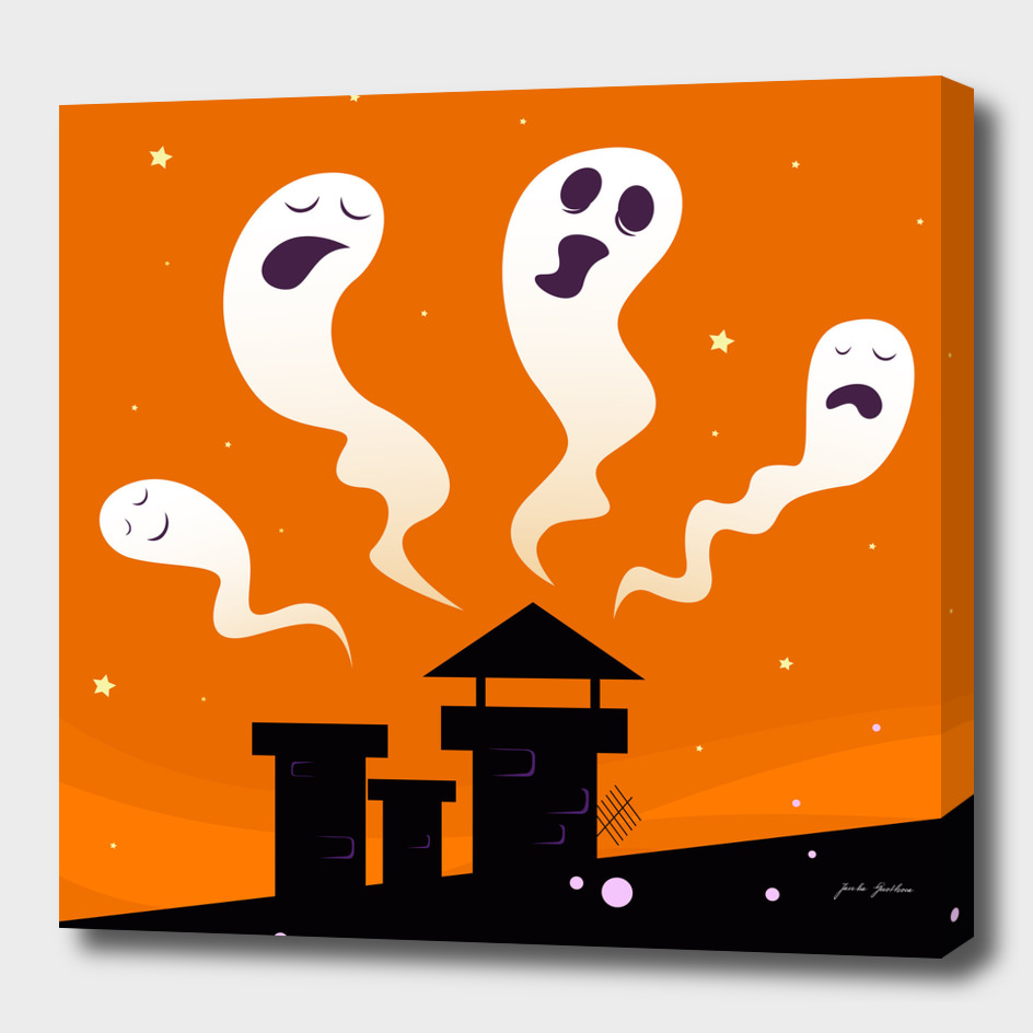 Ghost collection : black silhouette with orange