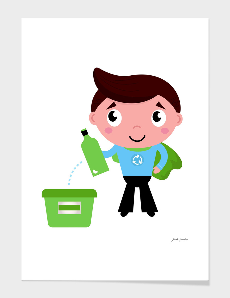 Recycle boy : New art edition blue green