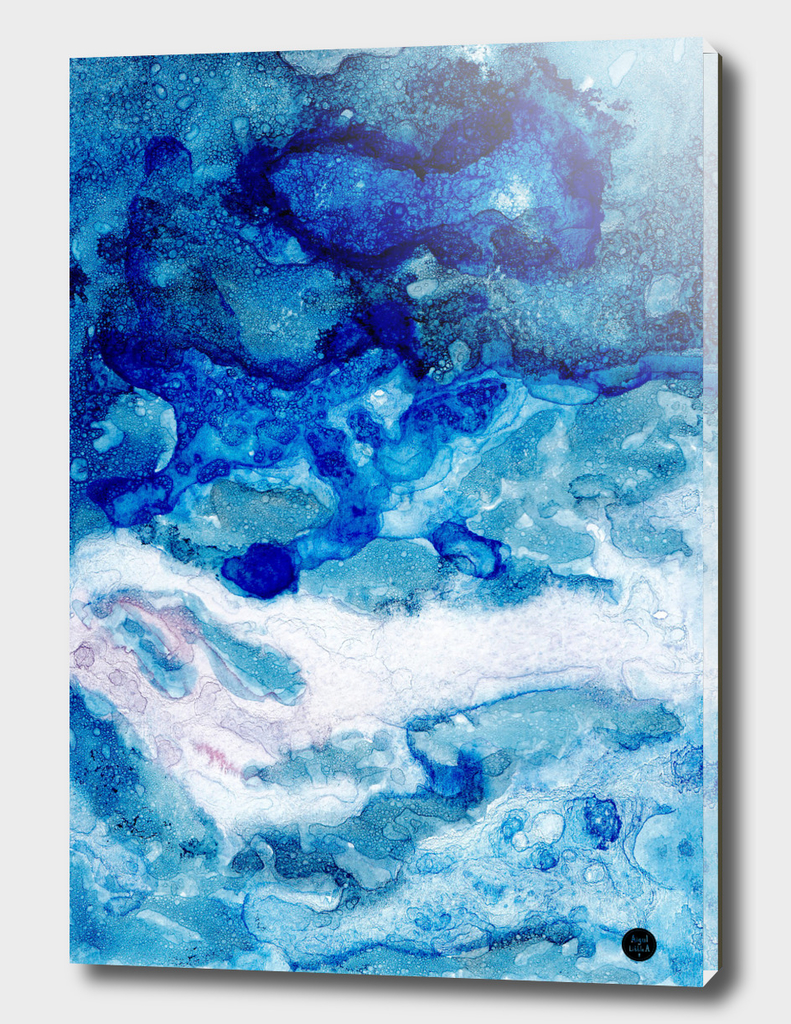 Blue abstract waves