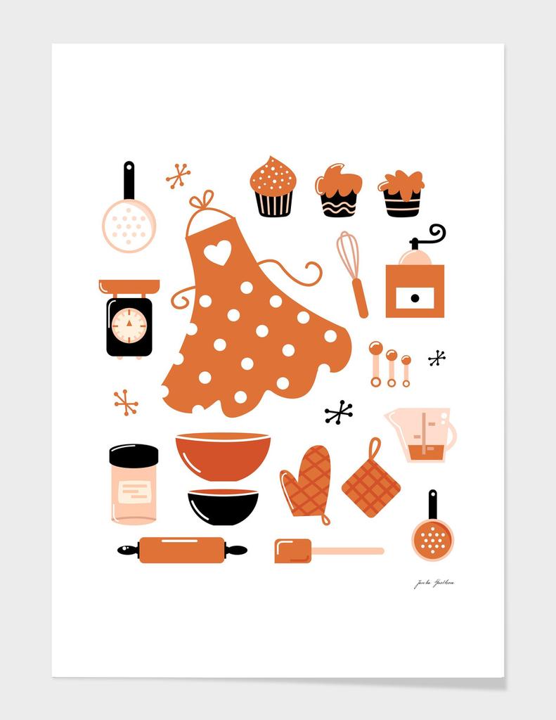 Creative kitchen art : brown, black