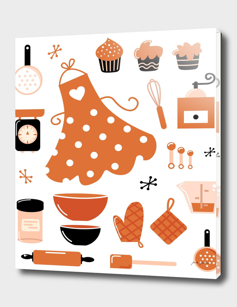 Creative kitchen art : brown, black