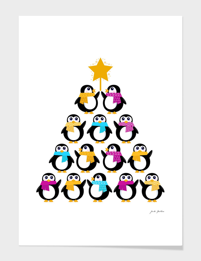 Cute penguins Edition : on white