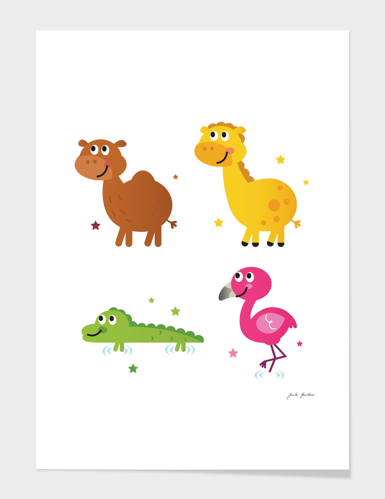 Cute safari animals : New art in shop