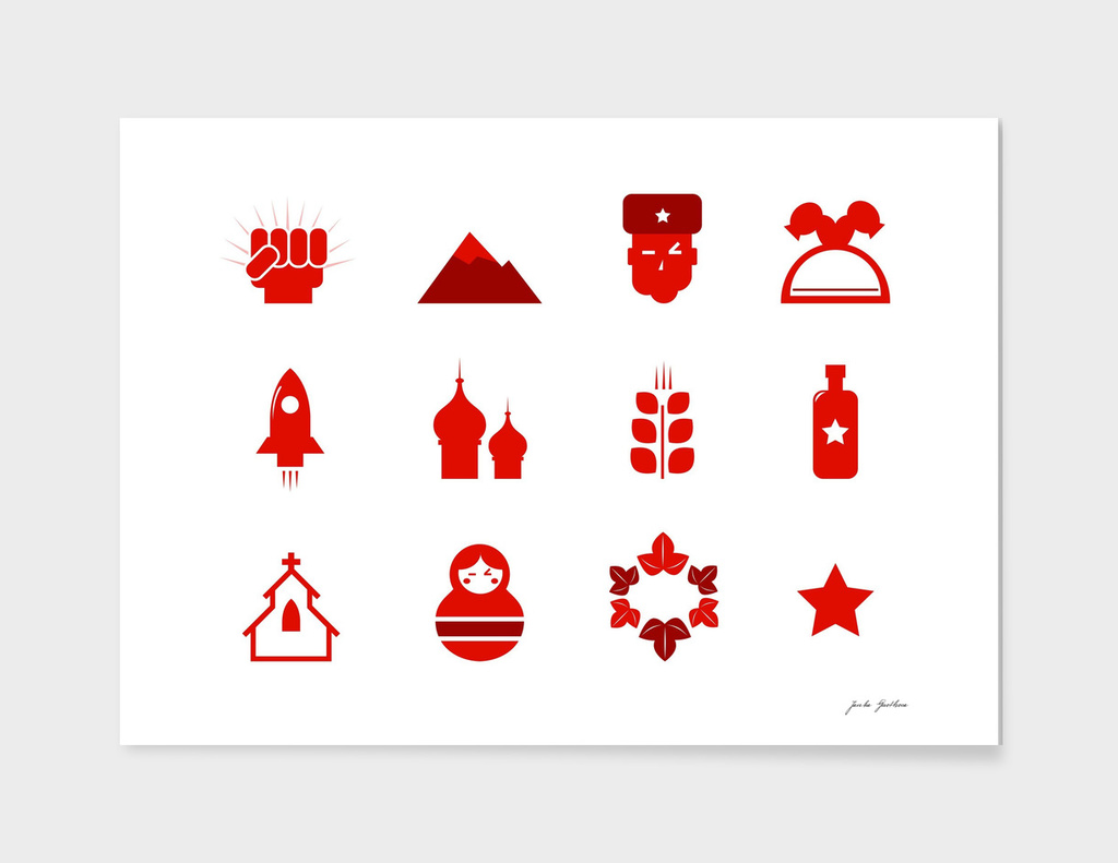 New in creative shop : Russia icons / RED