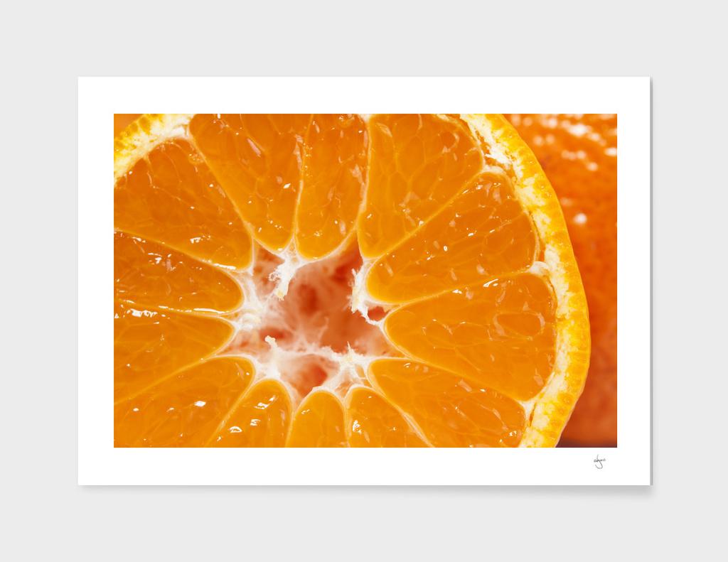 Orange tangerine macro