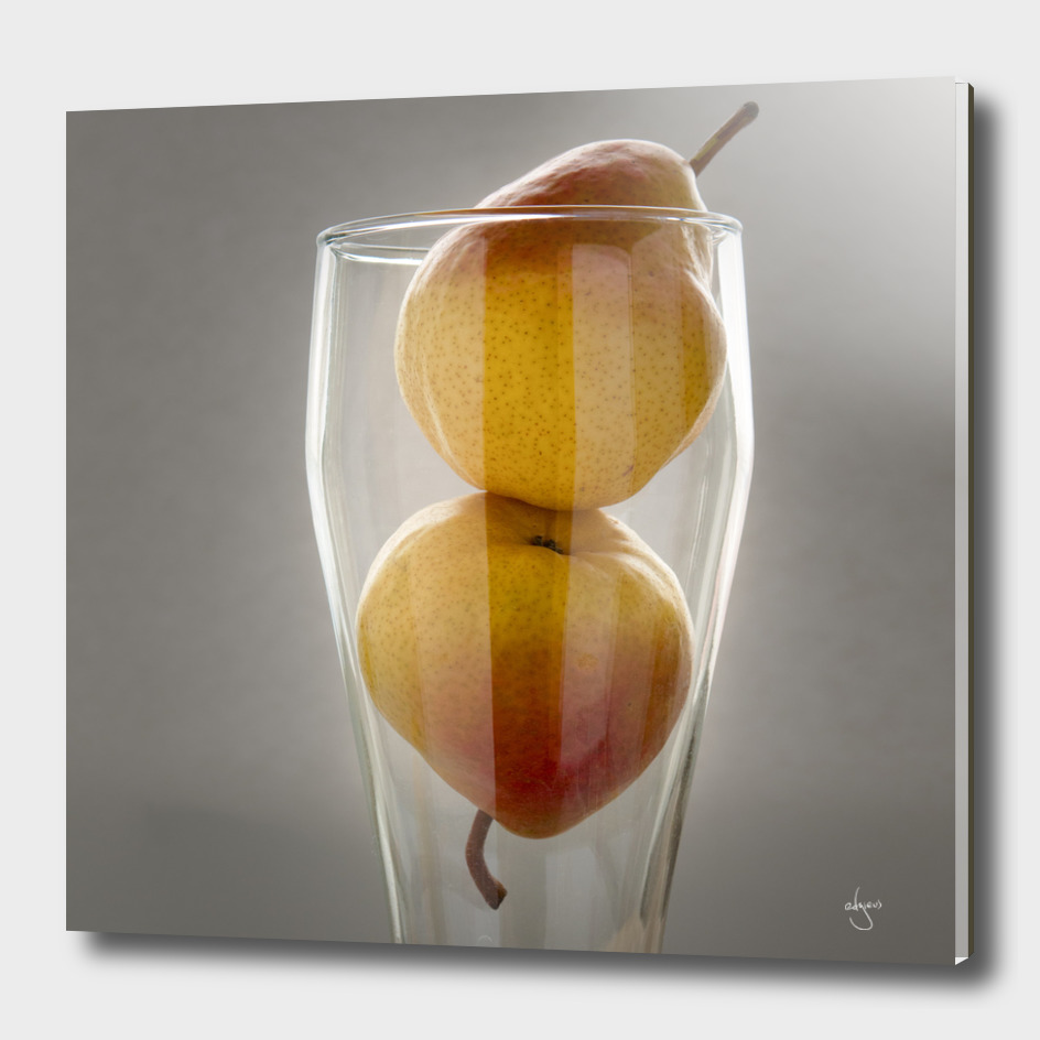 Still life pears in glass