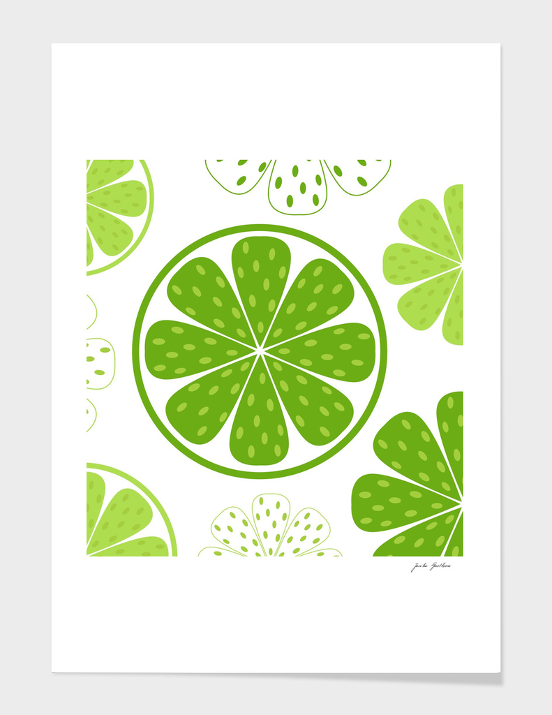 Hand drawn stylish Kiwi : green white