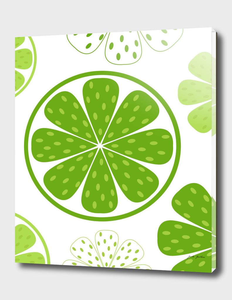 Hand drawn stylish Kiwi : green white