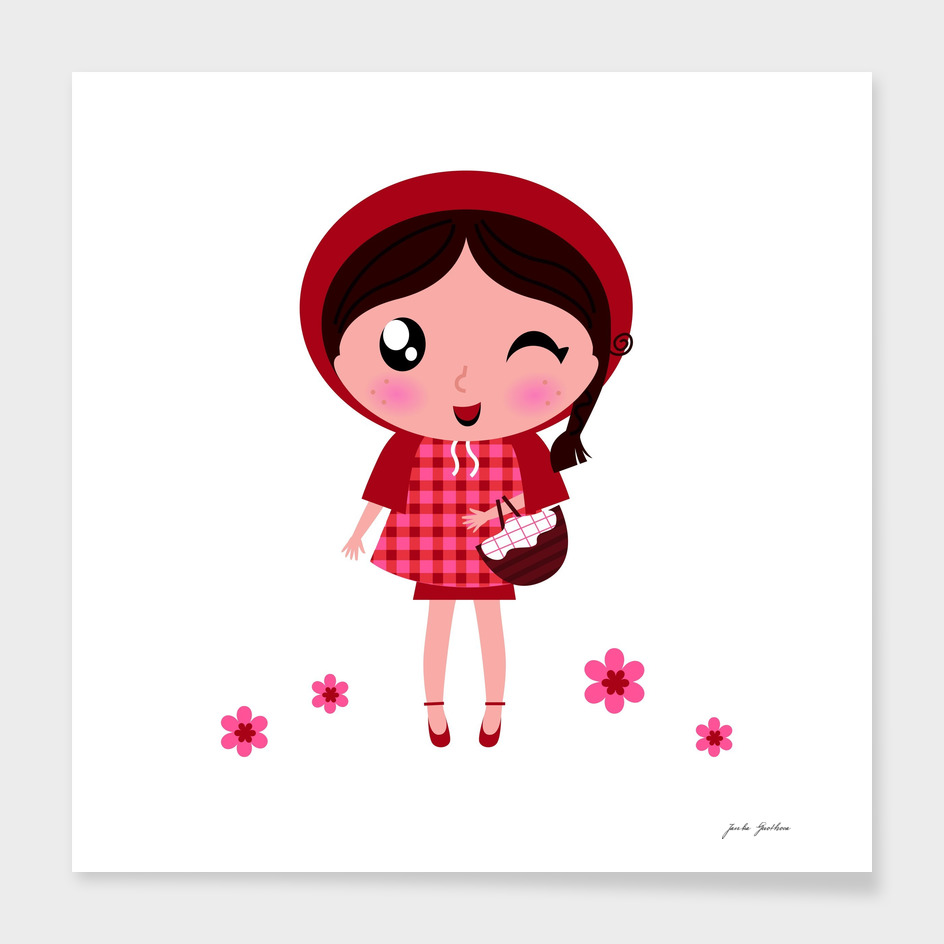 "Little ""RED RIDING HOOD"" character"