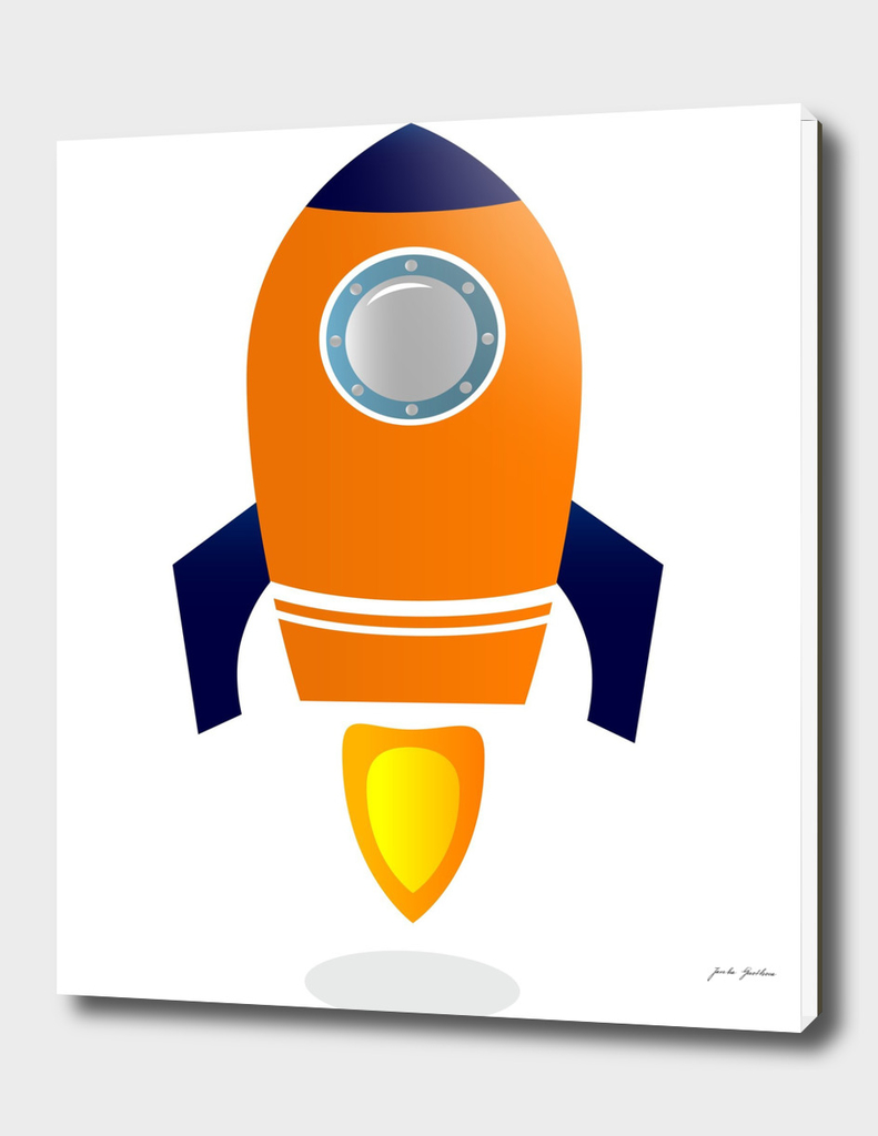 New in shop : Creative stylish Rocket / orange blue