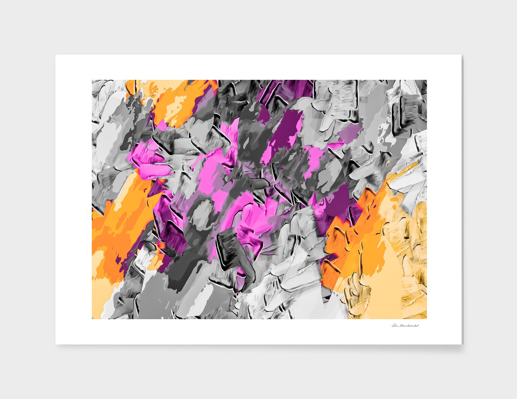 pink purple and orange painting texture abstract background