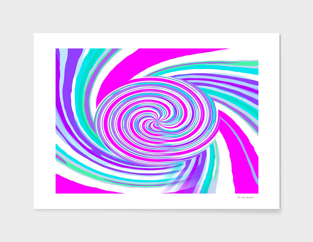 pink blue and purple curly line pattern abstract background