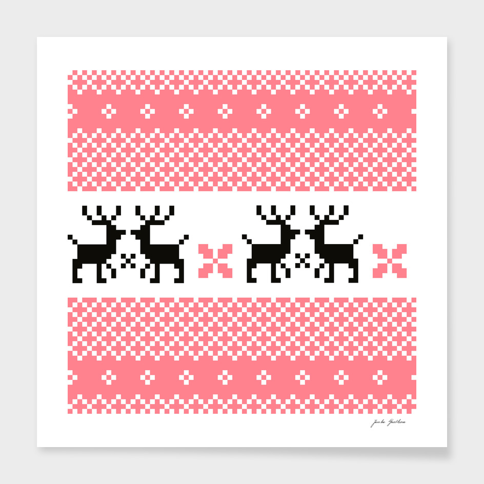 Cute hand drawn stylish Reindeers