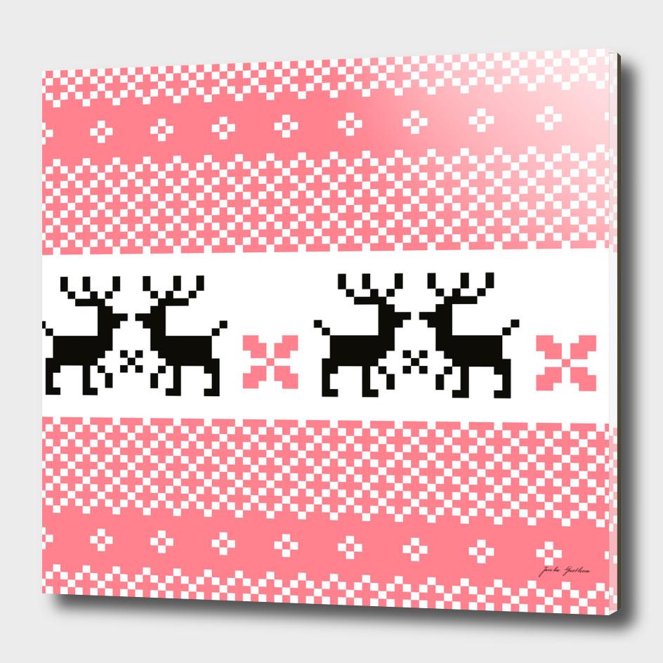 Cute hand drawn stylish Reindeers