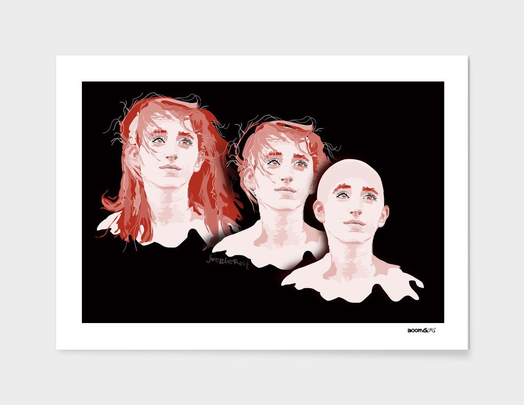 """Portrait """"Daniella"""" 1 (3 hair styles)"""