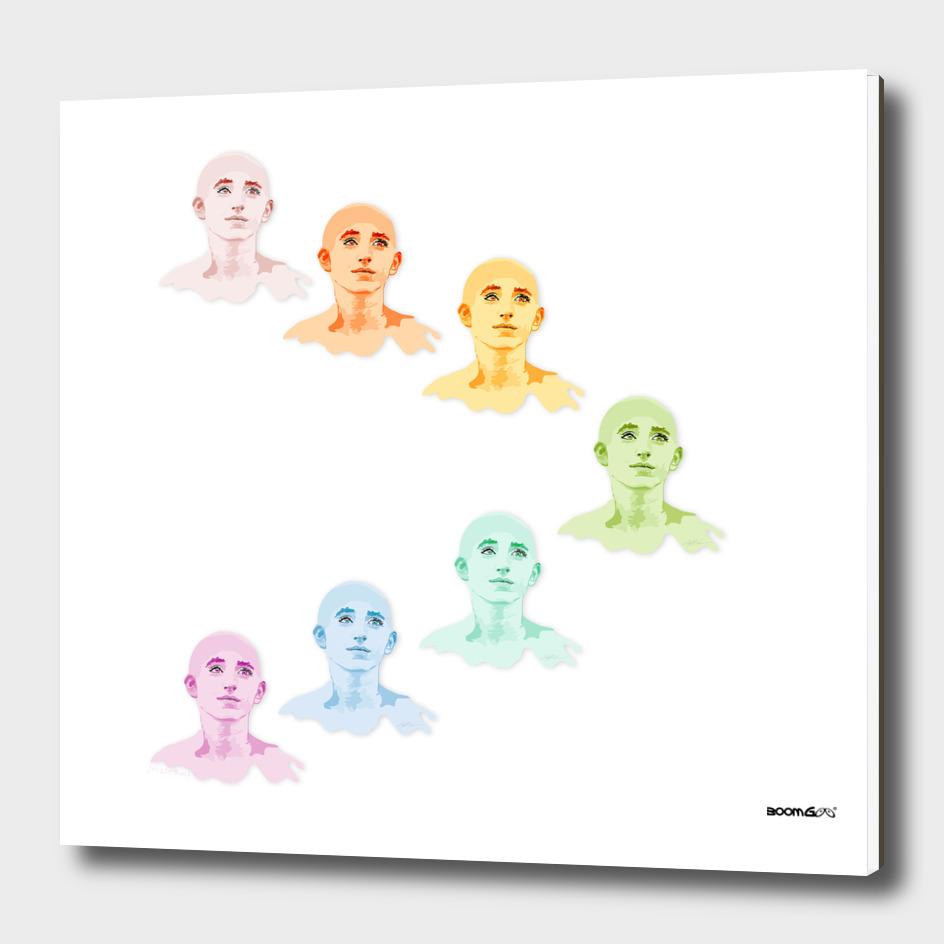 """Portrait """"Daniella"""" 3 (in 7 colors)"""