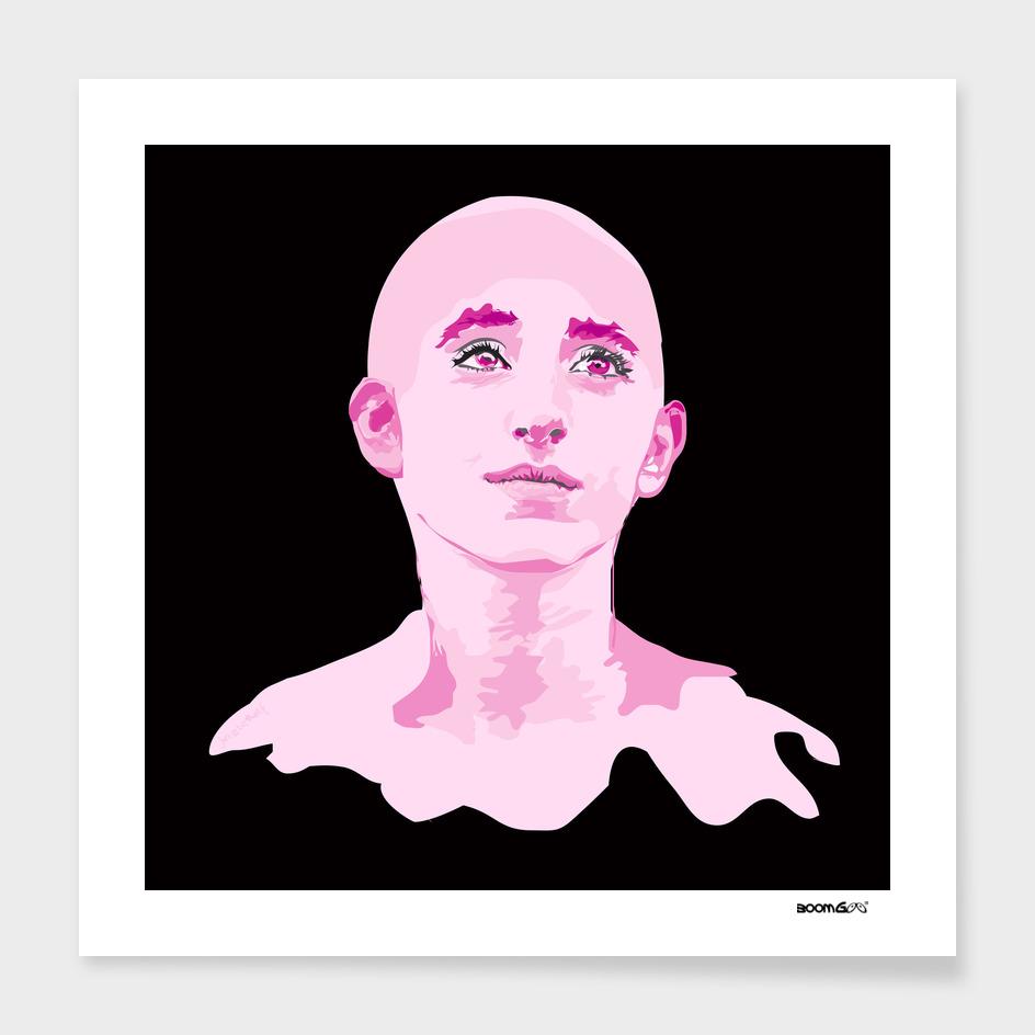"Portrait ""Daniella"" 4 (fuchsia)"