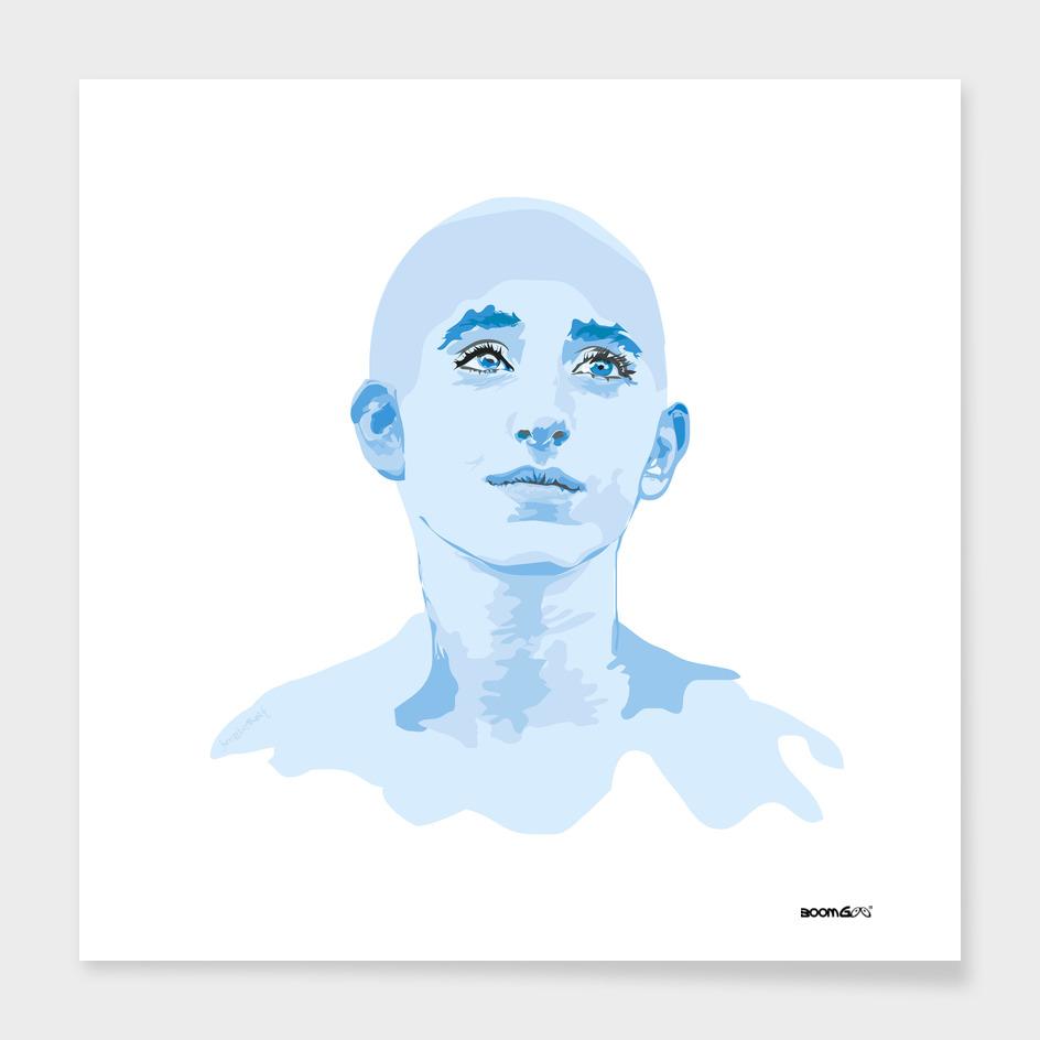 """Portrait """"Daniella"""" 4 (blues)"""