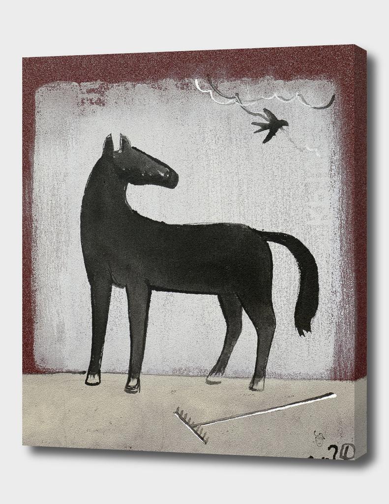 Horse and rake