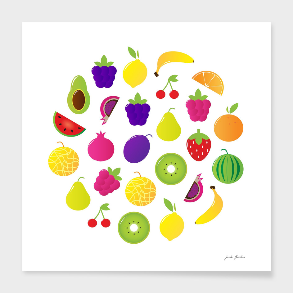 Hand drawn cute stylish Fruit