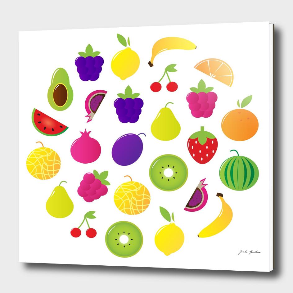 Hand drawn cute stylish Fruit