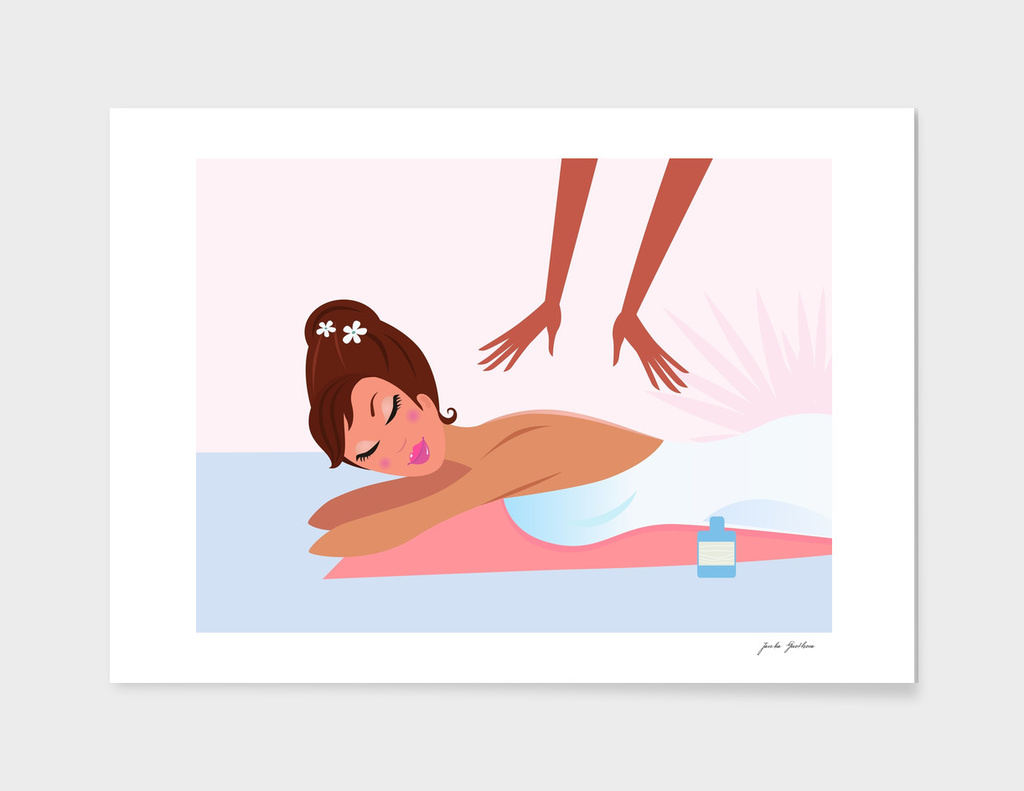Sauna girl : massage / Pink edition 60s