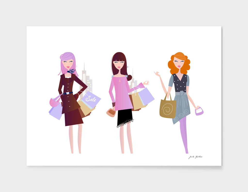 Fashion illustration : new art in Shop