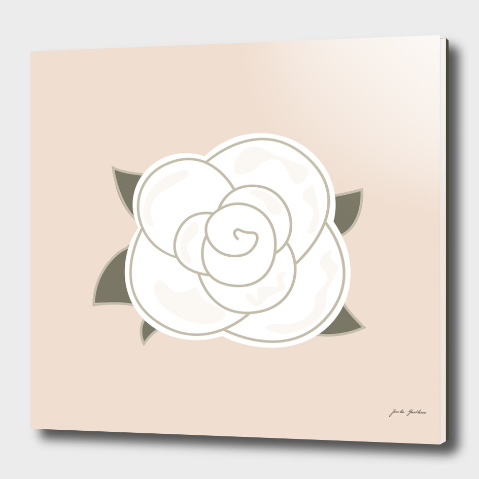 Brown vintage stylish flower : White rose