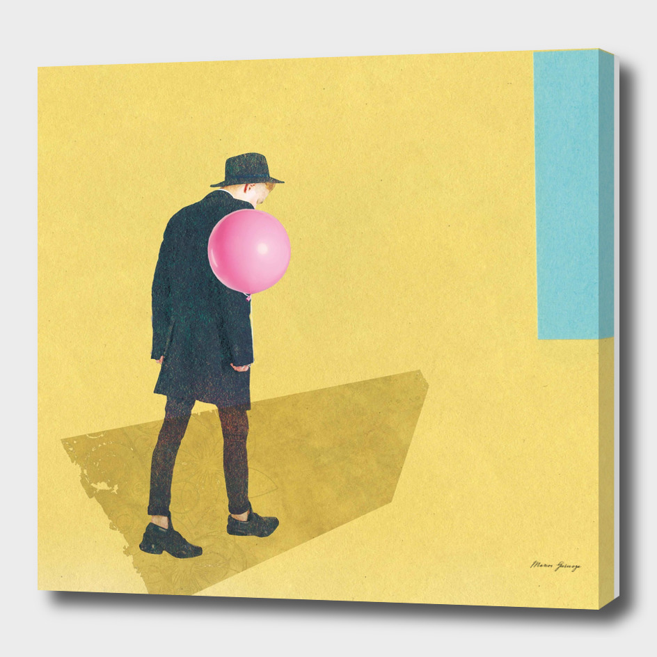 the boy with rose balloon