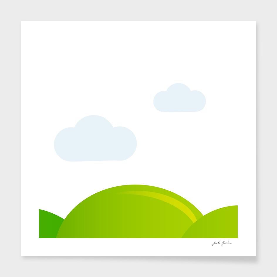 Hand drawn cute stylish Meadow