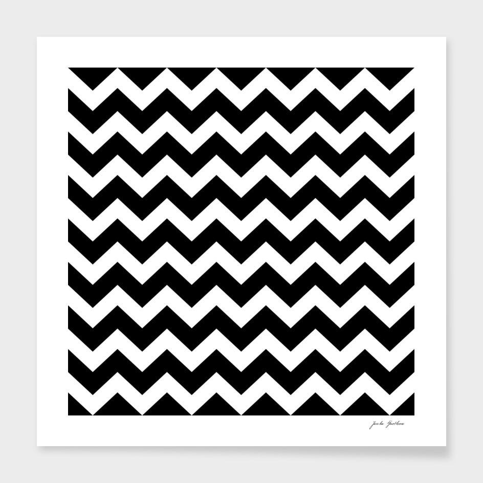 Black and white ZIG ZAG elements