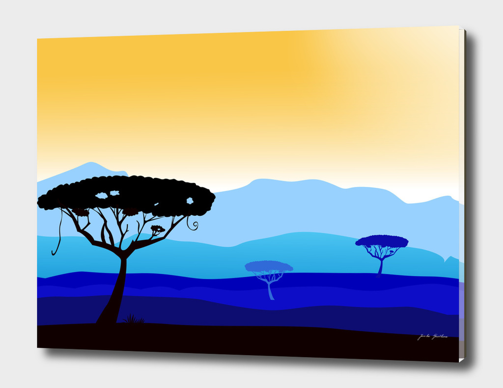 Safari africa blue orange Edition