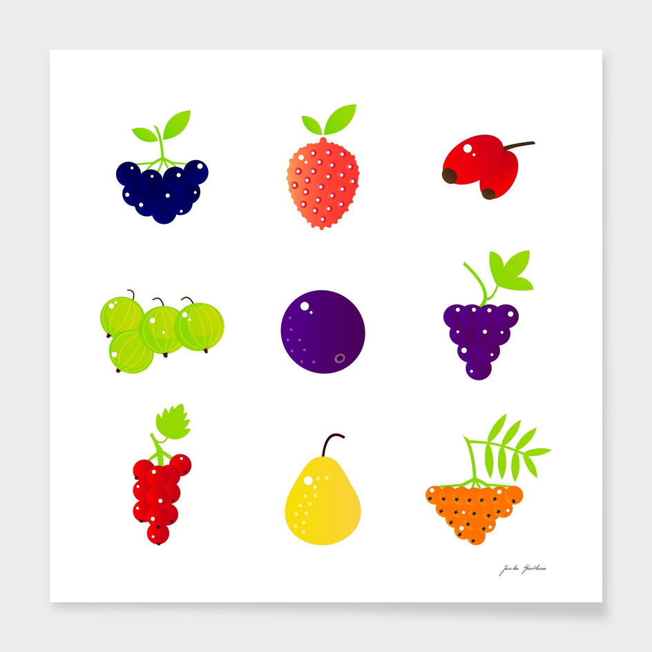 Cute fruity edition / on white