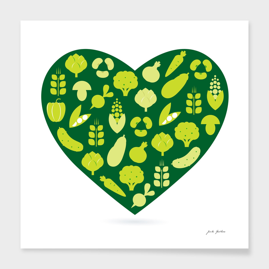 BIO vegetable heart / Green art edition