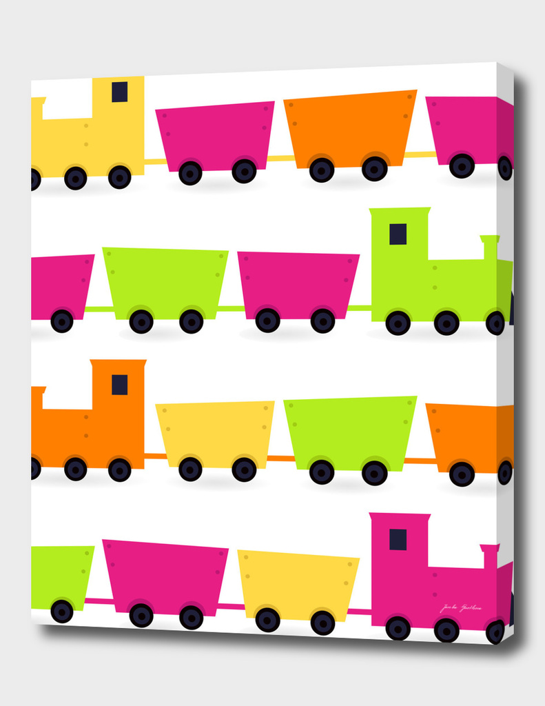 Train colorful canvas edition / for Kids