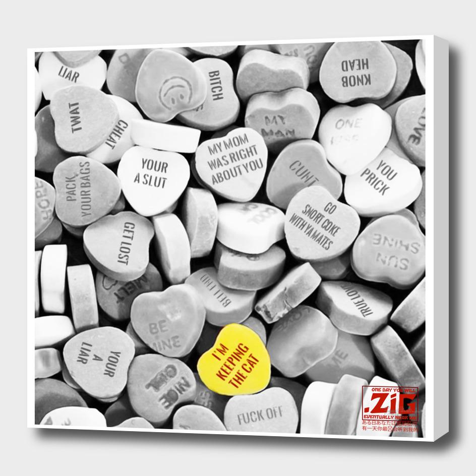Love me nots Noire (Square Mono Edition)